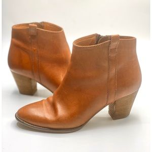 {Madewell} Leather Billy Ankle Boots/Booties